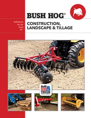 Bush Hog construction and landscape products