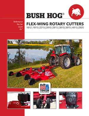 Bush Hog flex-wing rotary cutters