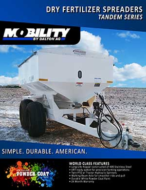Dalton walking tandem dry fertilizer spreader