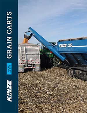 Kinze dual auger grain carts