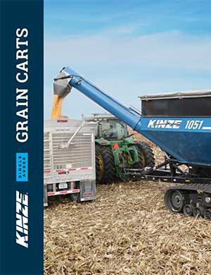 Kinze single auger grain carts