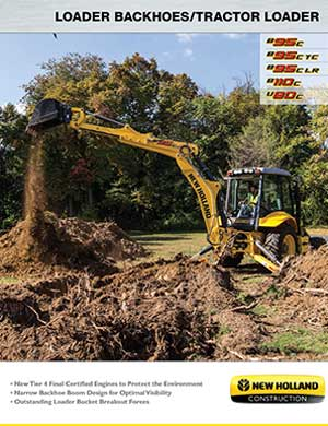 New Holland loader backhoes