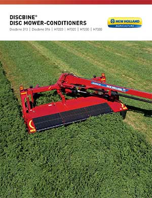 New Holland discbine center pivot mower conditioners