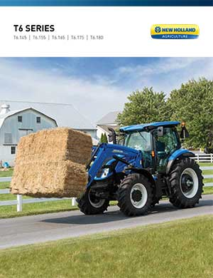 New Holland T6 Series tractors