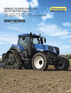 New Holland T8 Genesis tractors