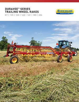 New Holland trailing wheel rakes