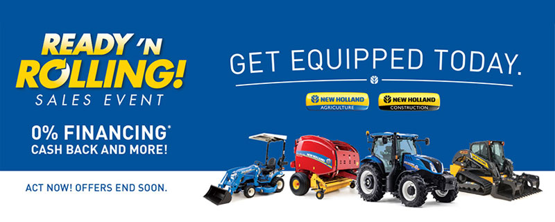 new holland 0% financing or cash back through june 30th.